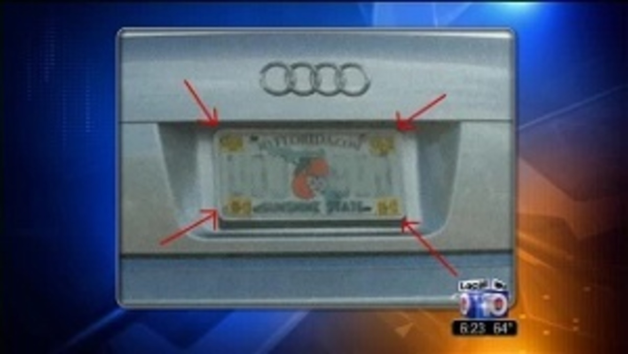 Confusion over registration sticker placement on cars