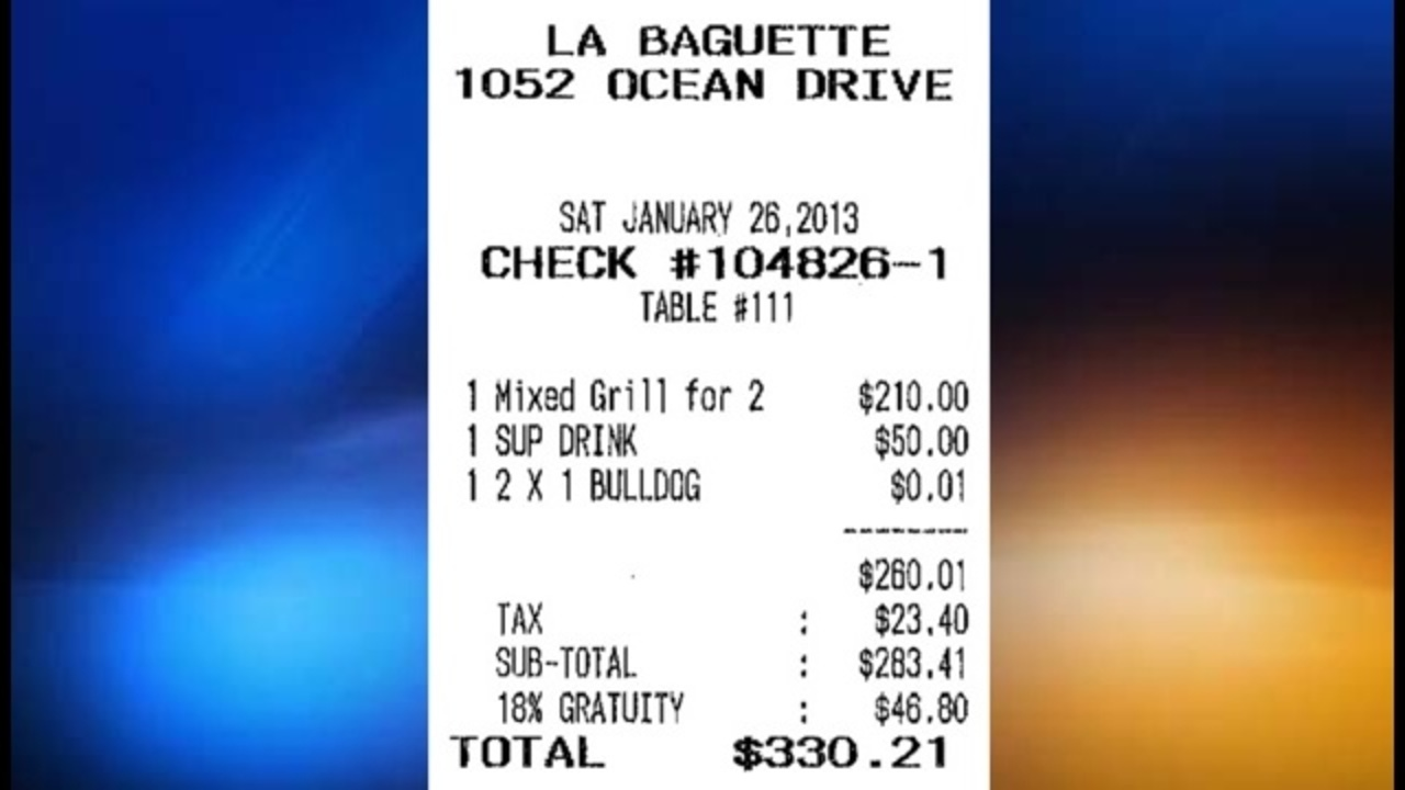 Is Miami Beach Restaurant Overcharging