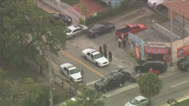 Car stolen scene Miami