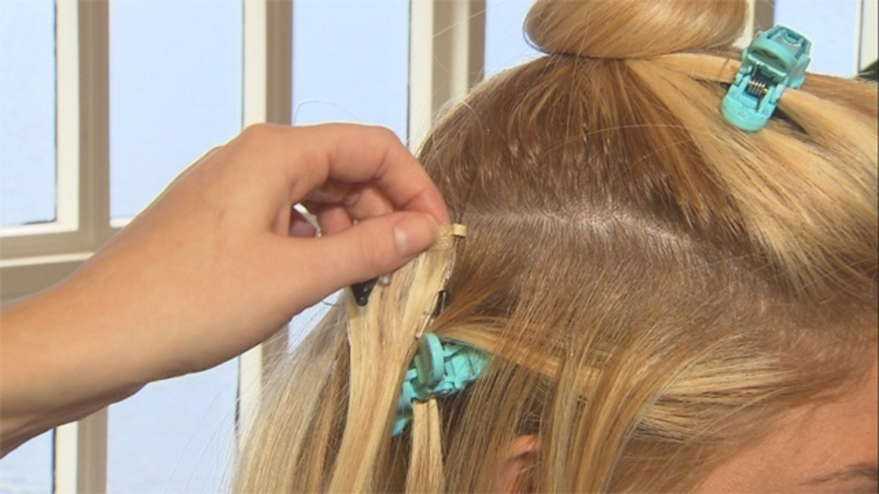 Salon Offers Safer Hair Extensions