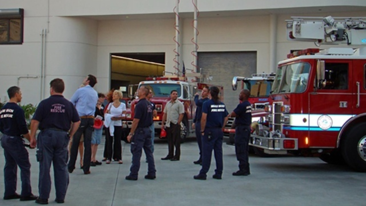 Miami Beach Fire Department Collects Supplies For Sandy