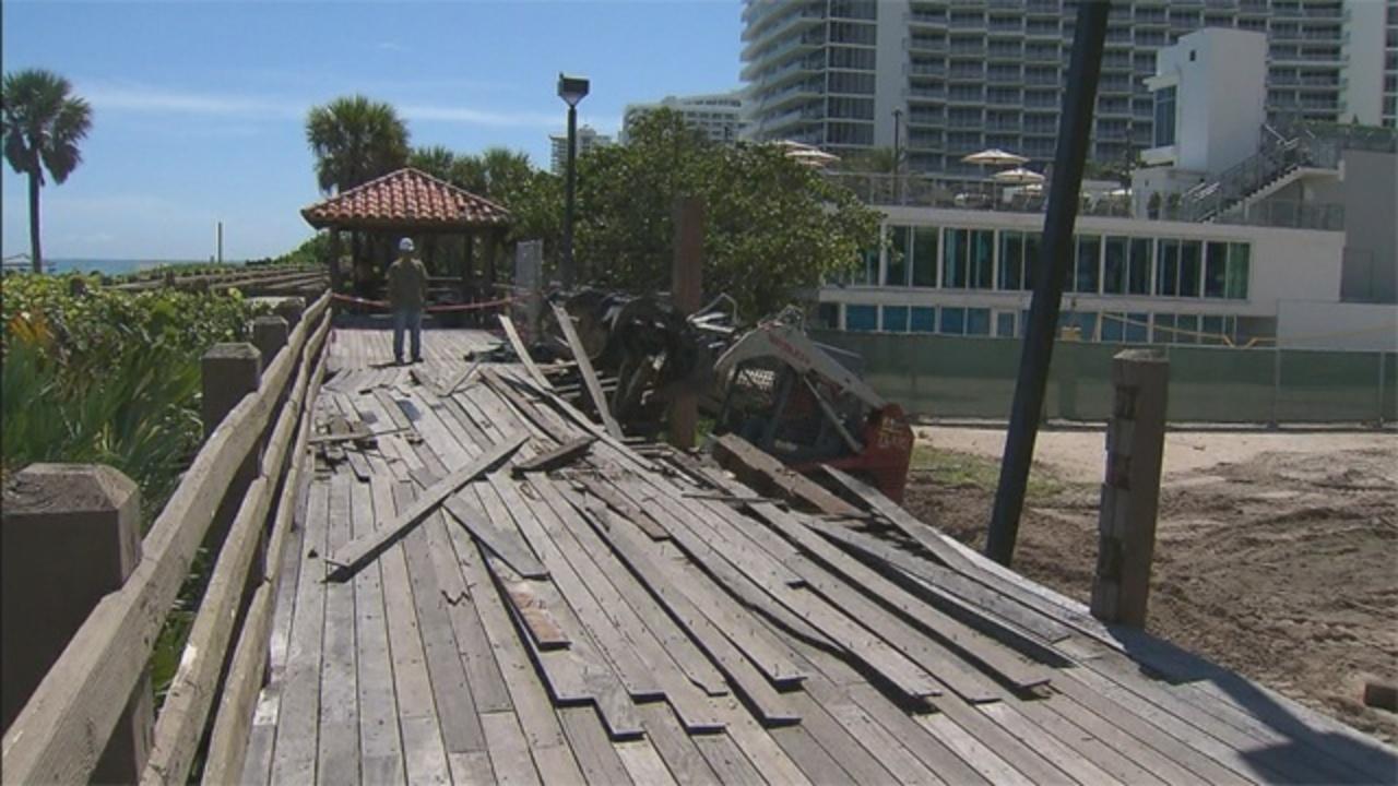 miami beach boardwalk construction