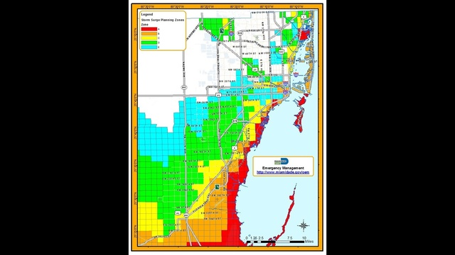 Miami-Dade hurricane map_19975720