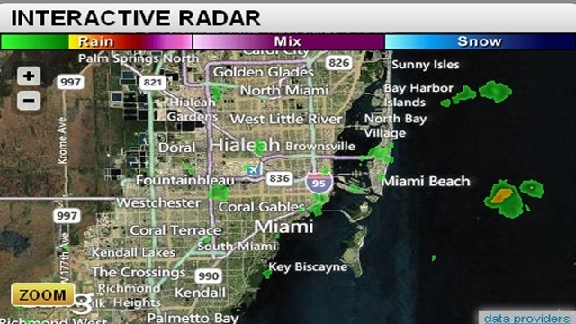 Miami interactive radar