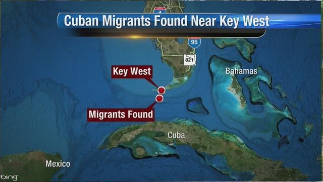 Cuban Migrants Found Near Key West Map