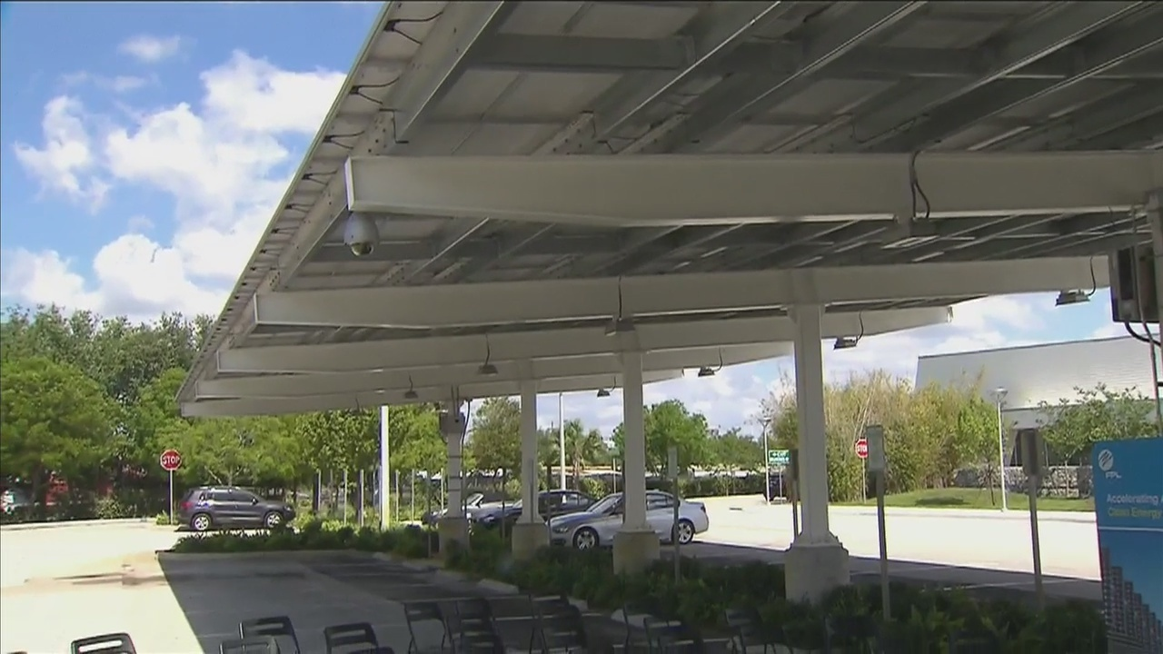 & FPL fires up solar power canopy at Young at Art Museum