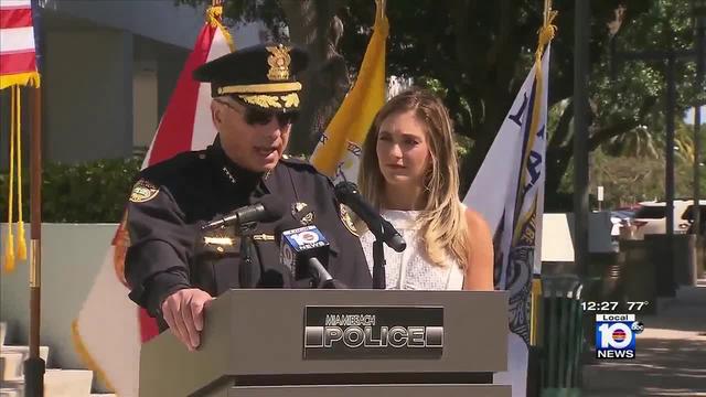 Miami Beach police chief honors Erica Rakow