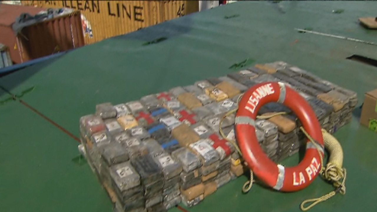 More than 2,000 pounds of cocaine found on ship docked in ...