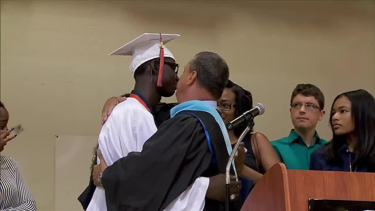 High School Senior Receives Diploma At Surprise Graduation