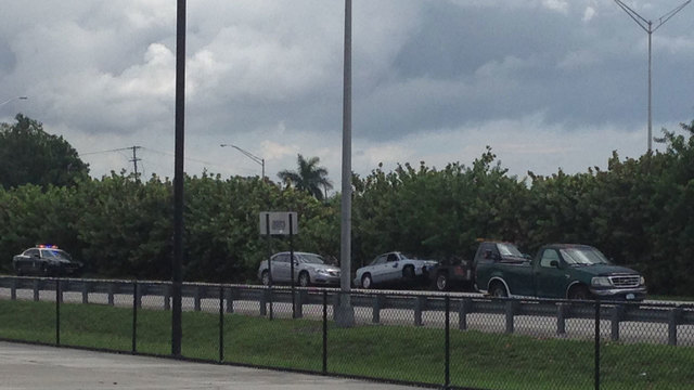 Aventura police officer crashes on Interstate 95