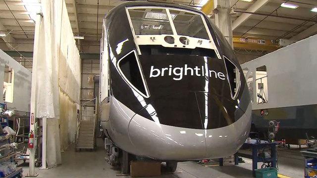 front of brightline train