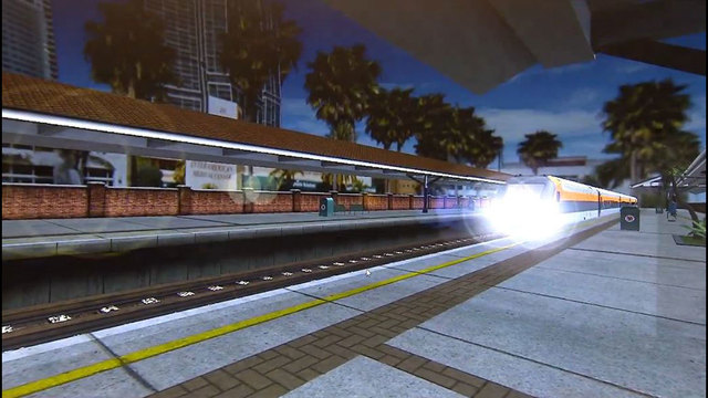 photo of brightline express train