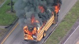 School bus catches fire in Opa-locka