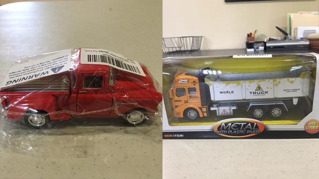 Toy trucks donated to Arnaldo Rios