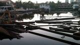 Coast Guard investigates sunken crane barge near North Miami Beach