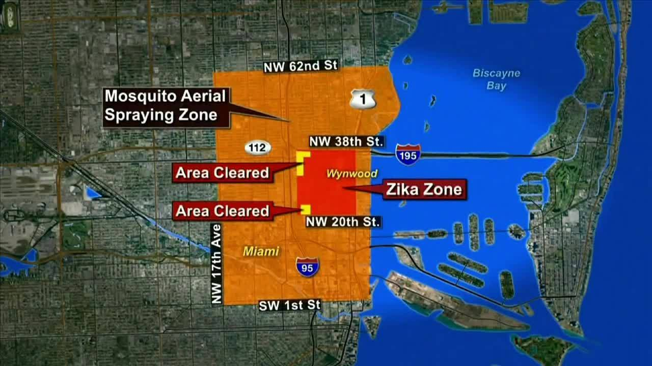 Health Officials Investigate  Areas For Possible Local Zika - Map of florida counties with zika