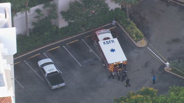 Woman falls from balcony at Key Biscayne apartment building