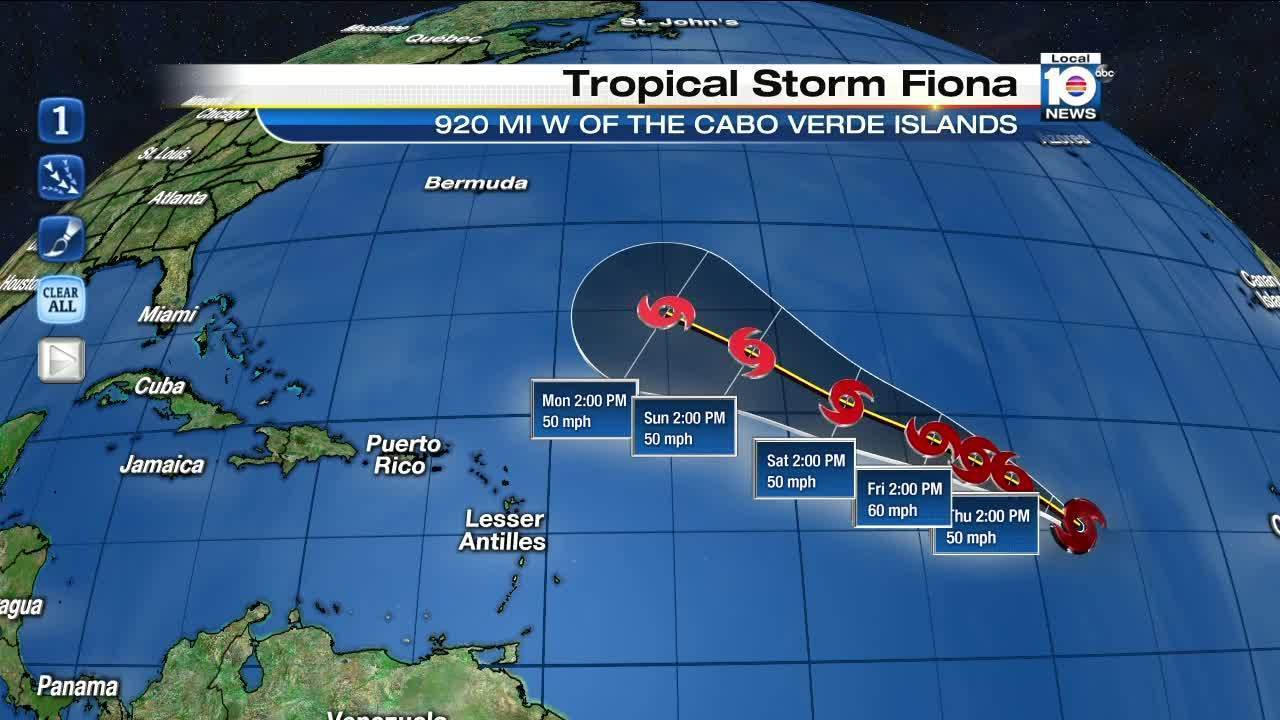 Tropical Storm Fiona Forms In Central Atlantic Poses No