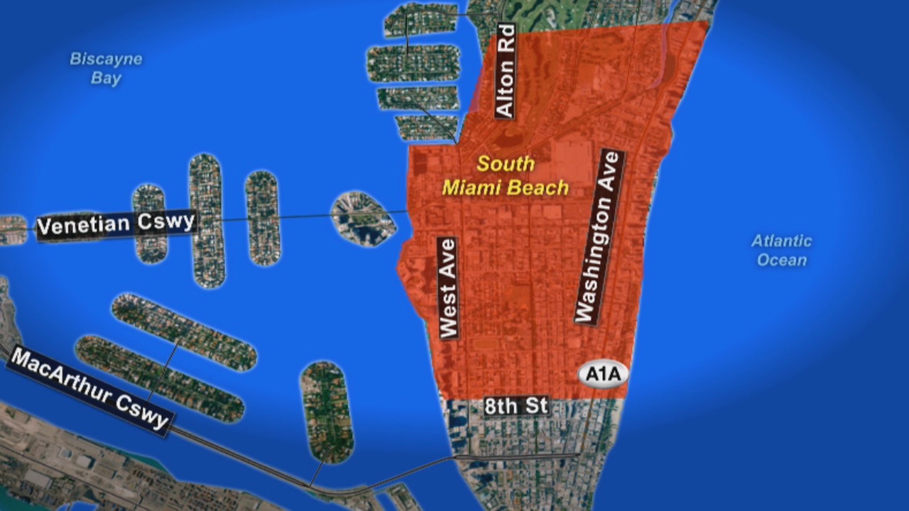CDC Issues Travel Advisory For Miami Beach - Map of florida counties with zika