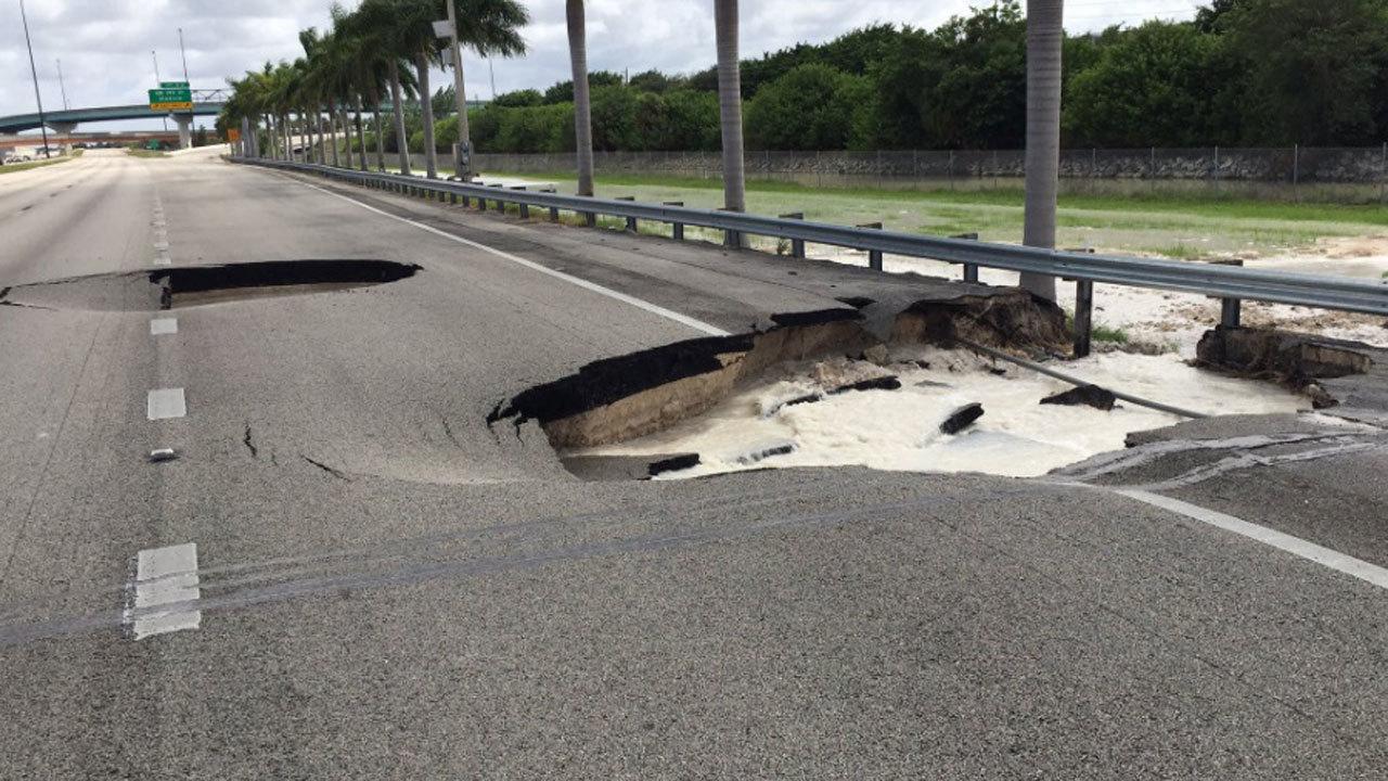 Sinkholes On Turnpike Cause Massive Traffic Delays