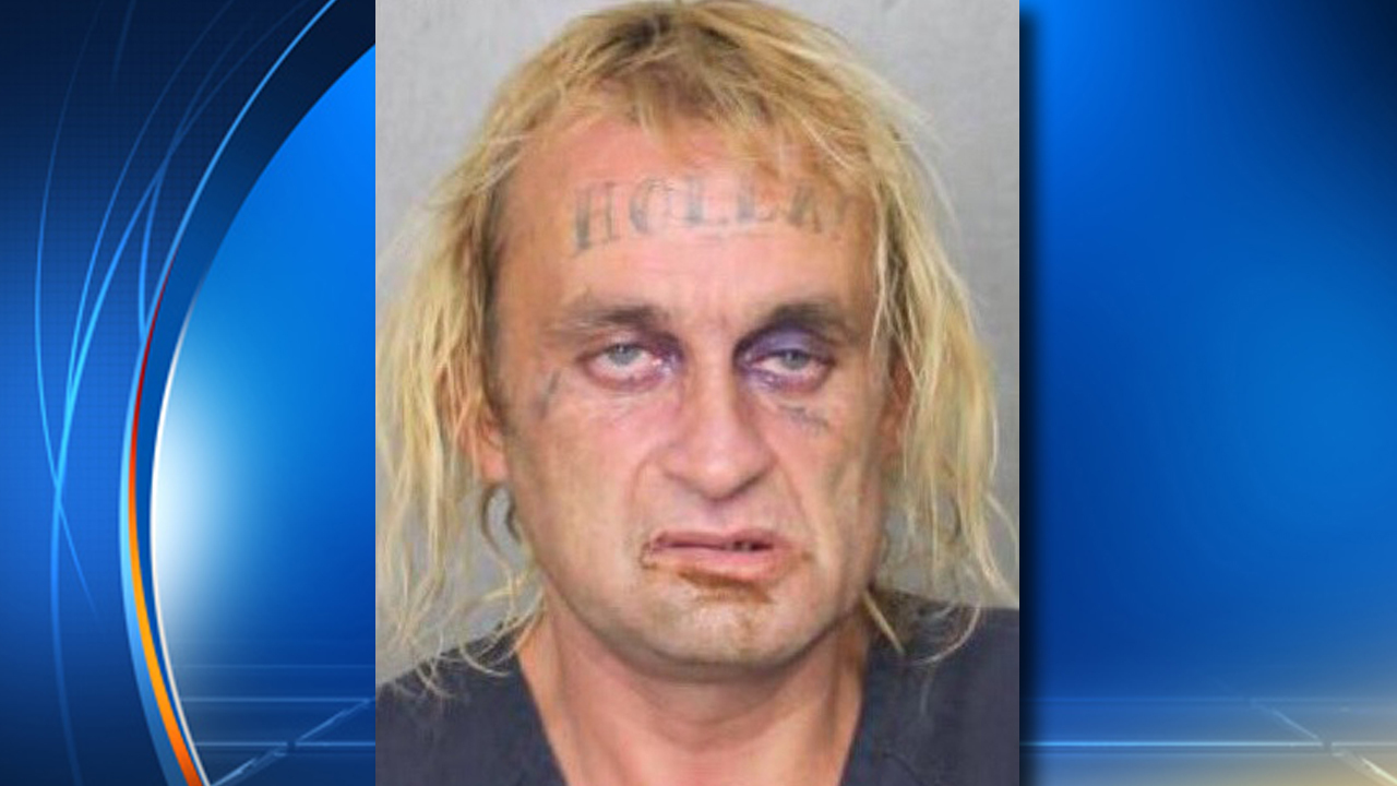 Man With Holla Forehead Tattoo Arrested In Florida