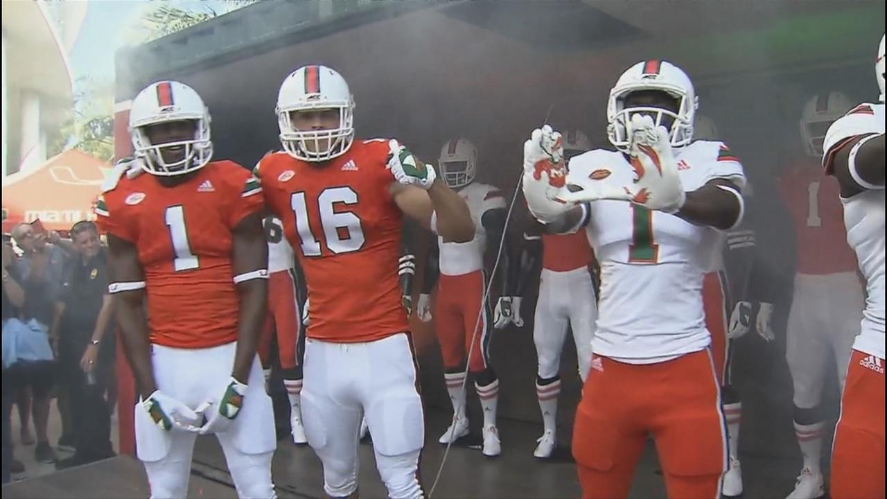 Hurricanes Football Team Reveals Throwback Uniforms