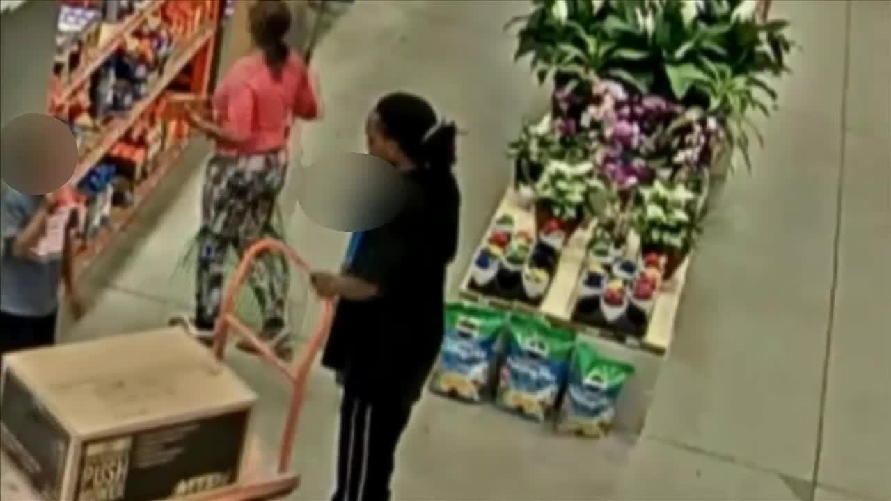 Couple caught on camera shoplifting at Home Depot with 2 young