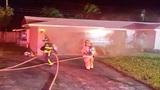 Fire erupts in garage of Deerfield Beach home