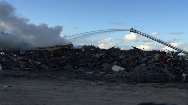 Firefighters work for 2 hours to put out Opa-locka junkyard fire