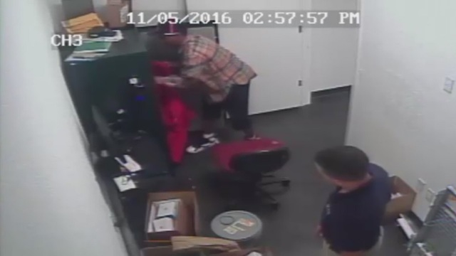 Surveillance video captures thief stealing electronics from safe at AT&T&hellip&#x3b;