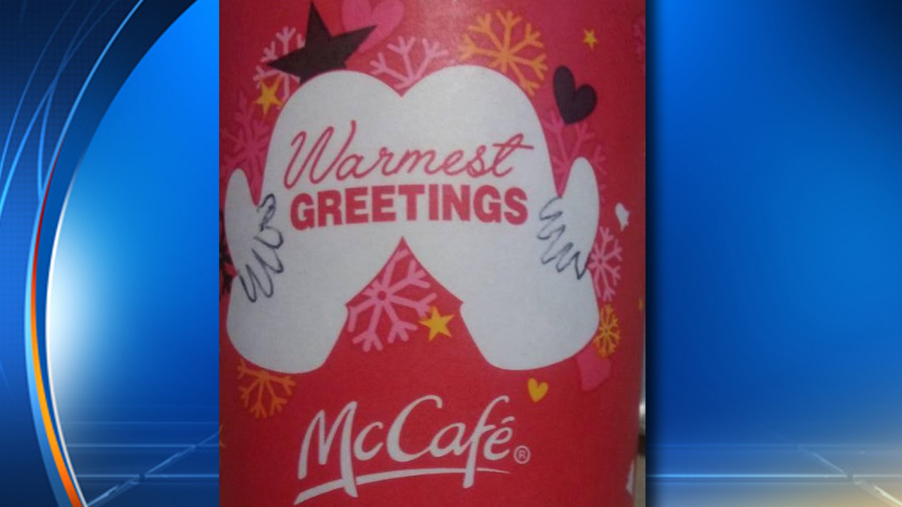 Mcdonald S Coffee Cup Gets Cheeky During The Holidays