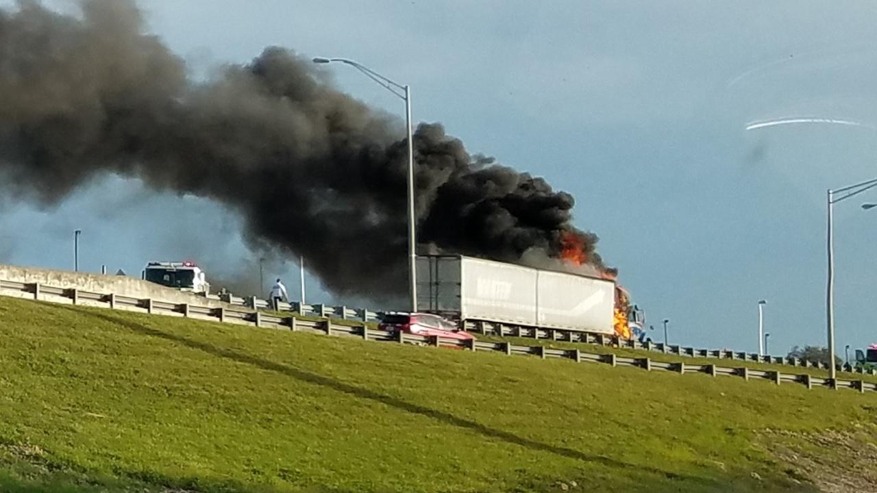 Tractor Trailer Car Crash Incident