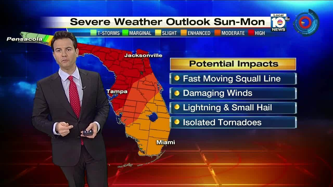 Trent Aric's 5 p m  severe weather outlook