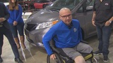 Javier Perez gifted new retrofitted minivan after losing legs in crash