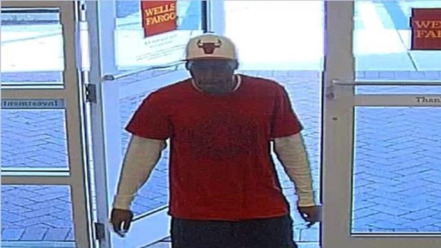 Lauderhill bank robber entering Wells Fargo