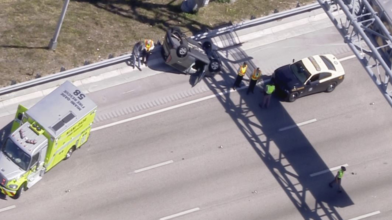 Northbound Lanes Of Turnpike Closed Near Southwest Eighth