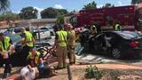 1 dead, 6 hurt in 2-car Miami crash