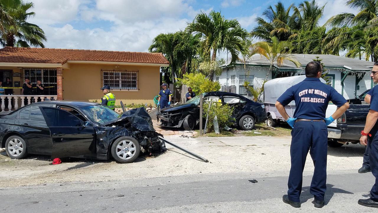 Lyft Driver Dead 6 Hurt In Miami Crash