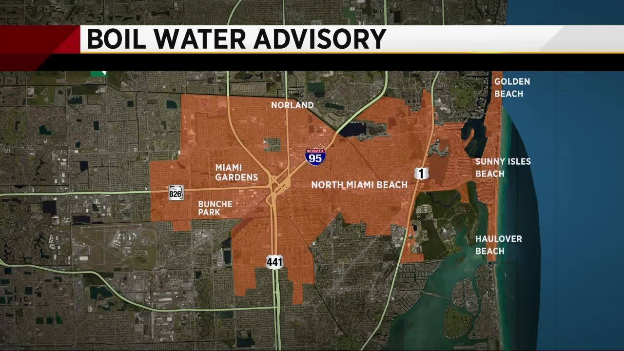 48-hour boil water notice issued for North Miami Beach