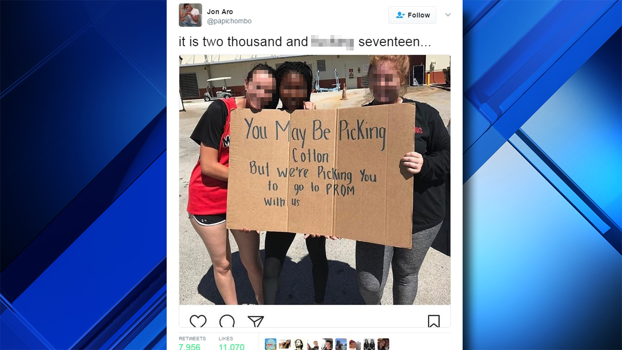 Students Behind Distasteful 'inside Joke' Prom Proposal Sign