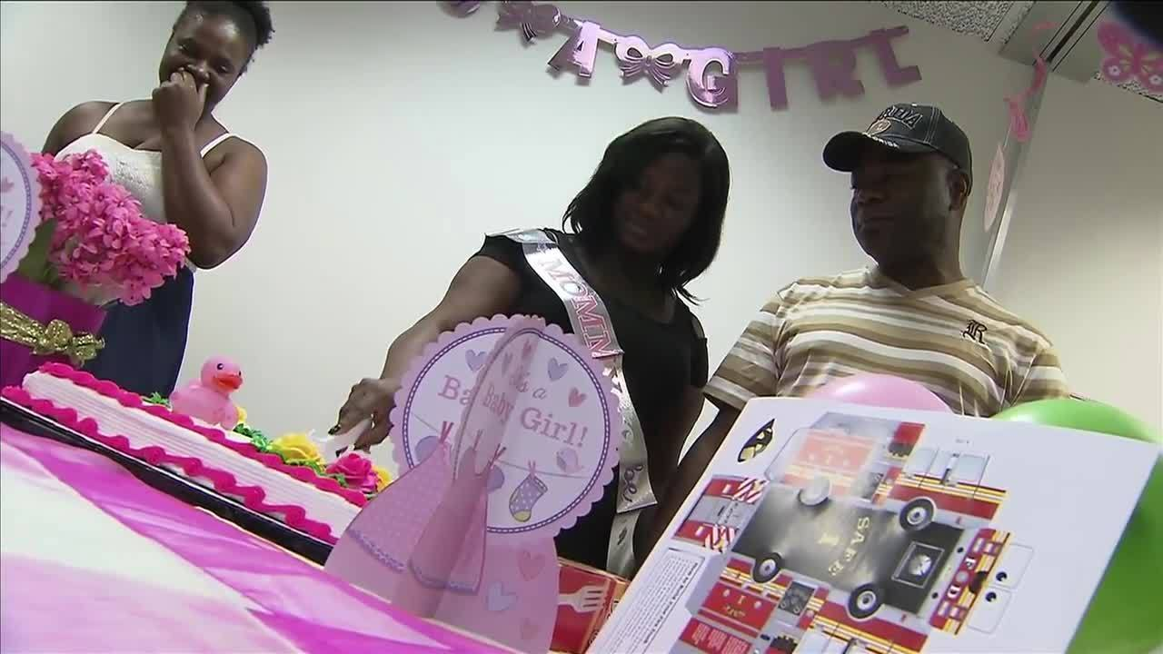 Lauderhill Firefighters Host Baby Shower For Woman Who Lost.
