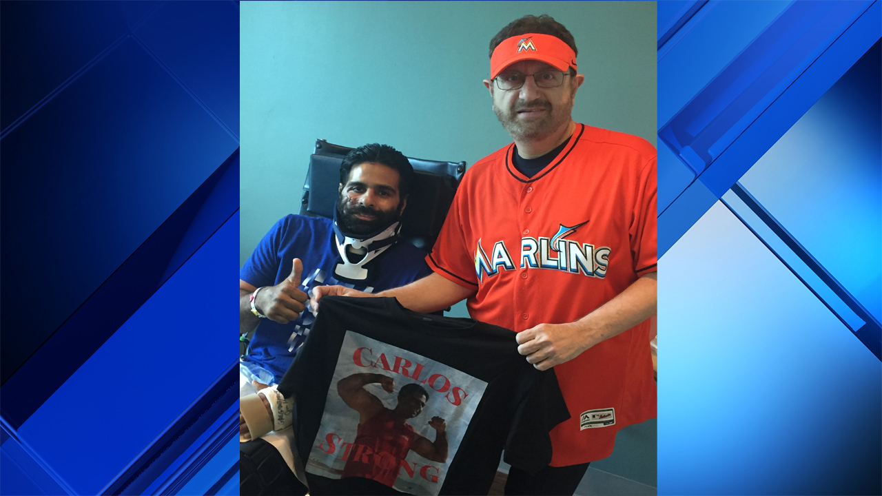 Marlins Man Makes Generous Donation To Trooper Struck By