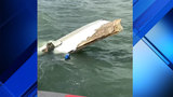 Boat capsizes after being involved in crash