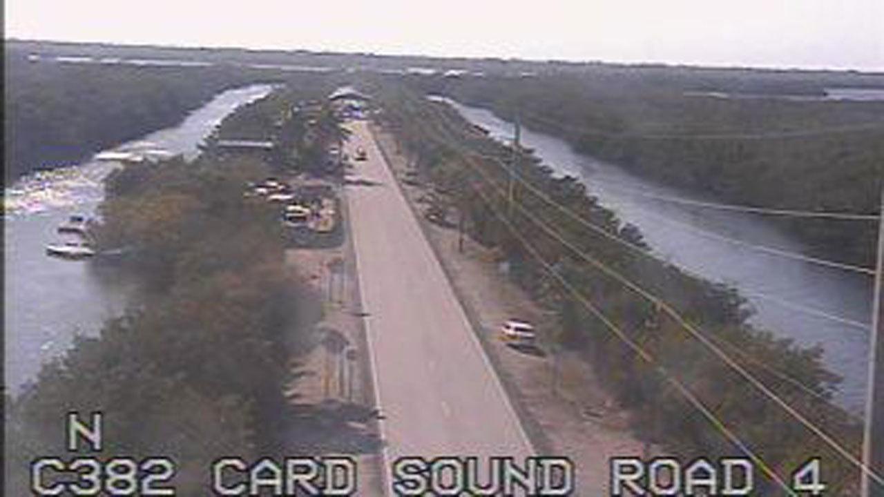 Die In Key Largo Car Crash Card Sound Road