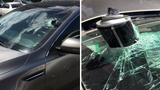 Hairspray can explodes in hot car, destroys windshield
