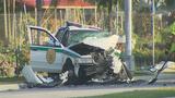 2 Miami-Dade police officers injured after wrong-way crash