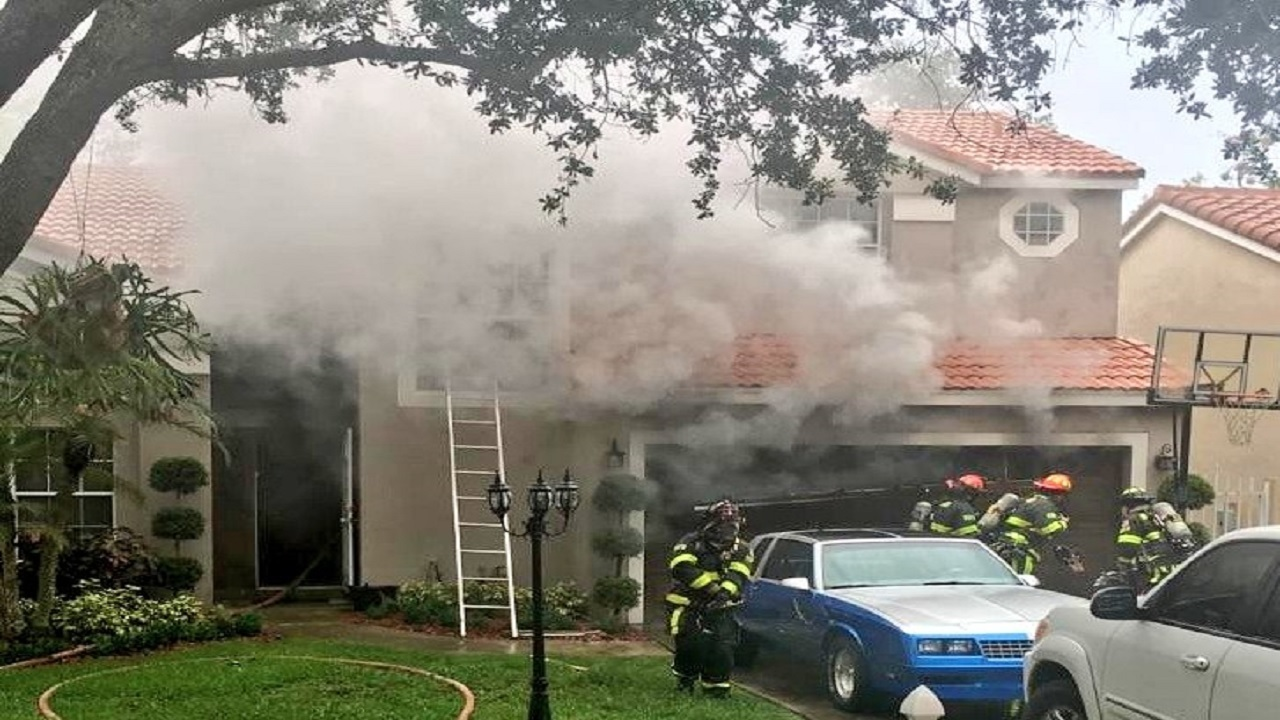 2 Story Home Catches Fire In Cooper City