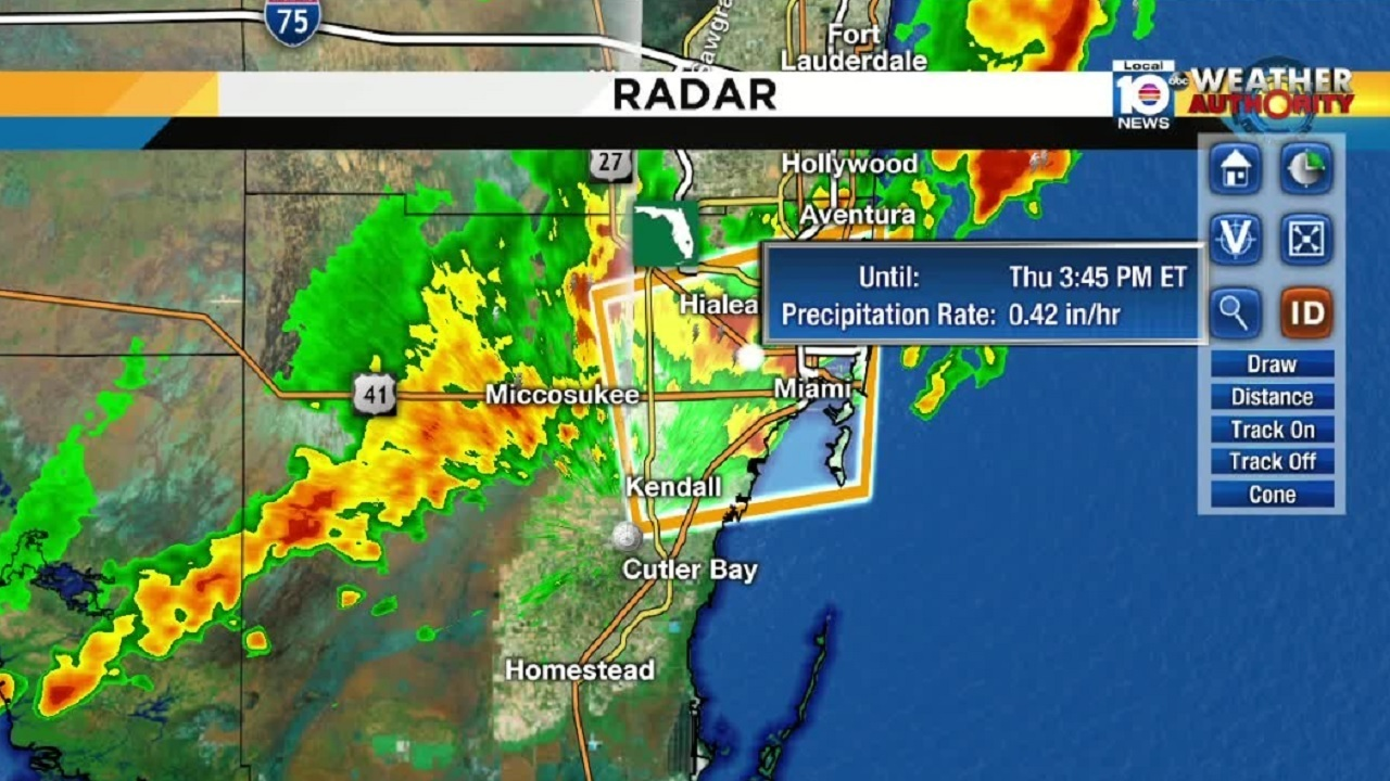 severe thunderstorm warning issued for part of south florida