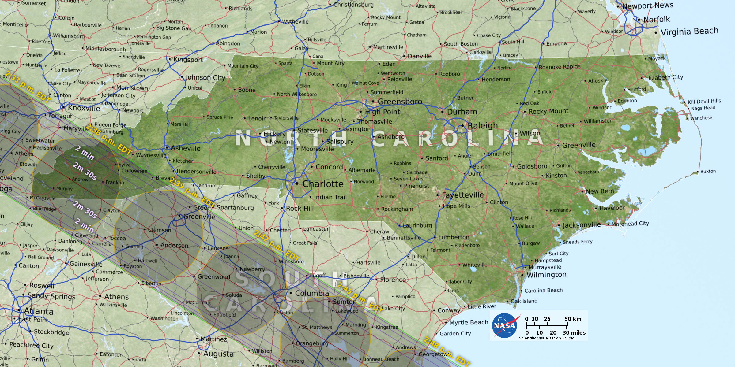 North Carolina also have areas that