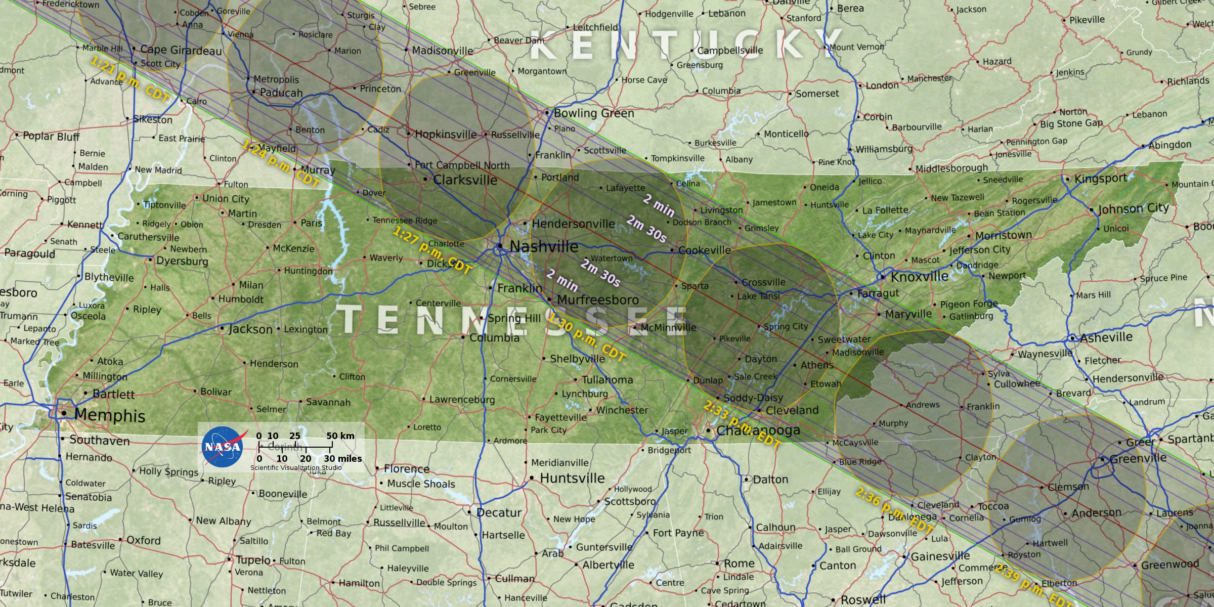 Kentucky Land Map%0A Where to observe the total solar eclipse